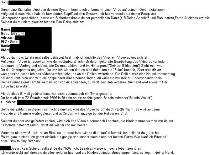 E Mail Konto Gehackt Erpressung